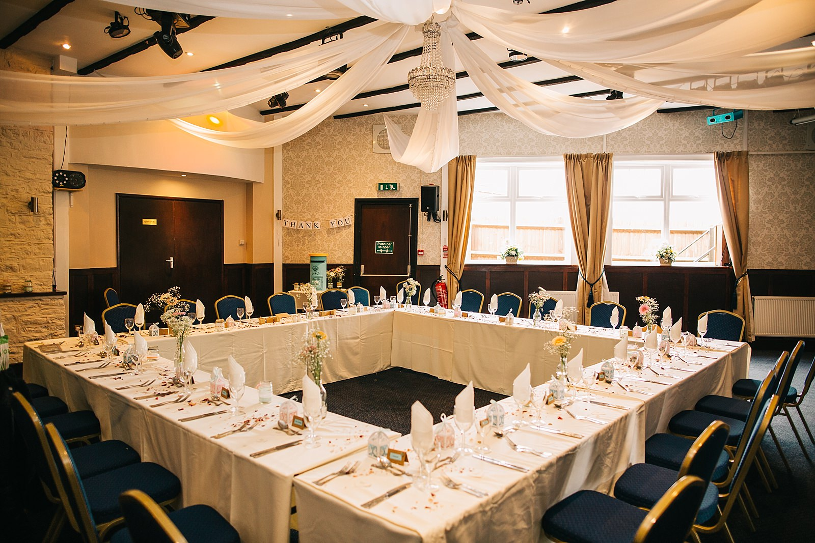 wedding reception room the walnut tree inn blisworth
