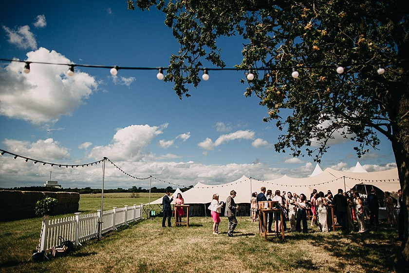 guests outside on a field