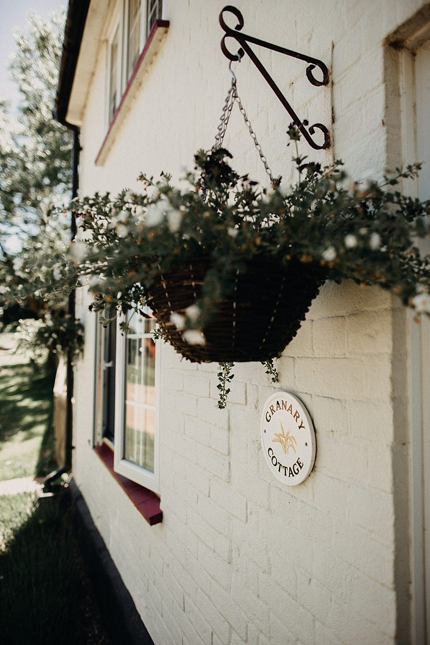 photo of hanging flower basket