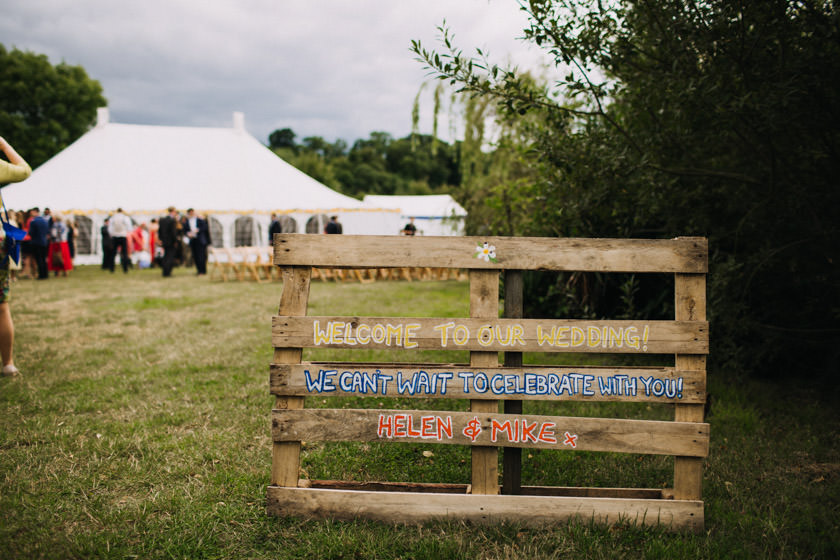 wedding sign on a pallet photographed by Wedding Photographer Nottingham